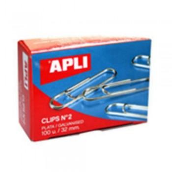 CLIPS APLI Nº 2 32 MM.  PLATEAD