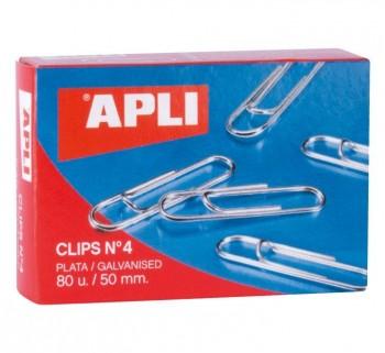 CLIPS APLI Nº 4 50 MM.  PLATA 80U