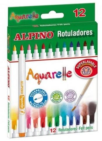 ROTULADORES ALPINO AQUARELLE 12 UDS