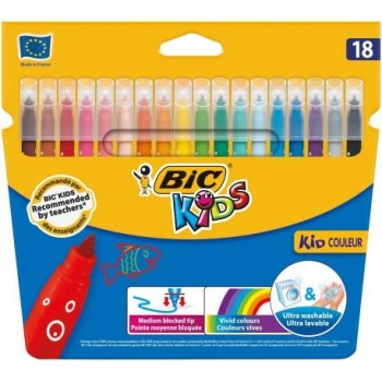 ROTULADORES  BIC KIDS 18 COLORES