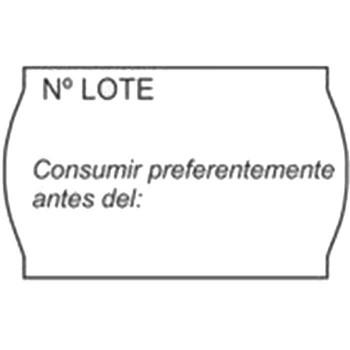 ETIQUETA 26X16 ADH. BCA Nº LOTE