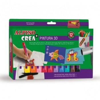 SET PINTAR ALPINO CREA 3D 12 UDS.