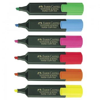 ROTULADOR FLUOR. FABER CASTELL 6 UD