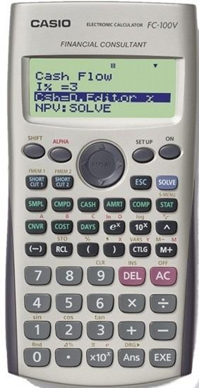 CALCULADORA FINANCIERA CASIO FC-100V