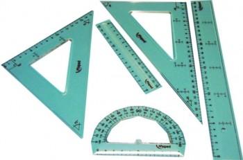 JUEGO REGLAS 4 PIEZAS + REGLAS 30 Y 15cm MAPED