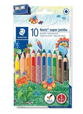 LAPICES STAEDTLER SUPER JUMBO 10 COLORES