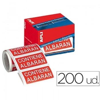 ETIQUETAS CONTIENE ALBARAN 200 UND.