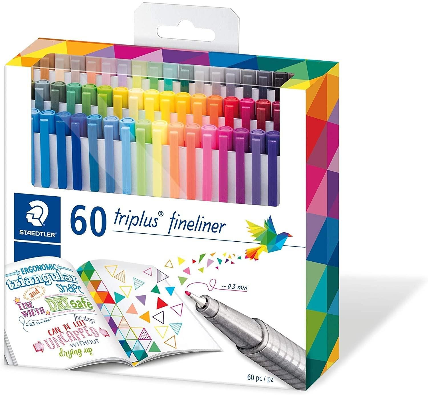ROTULADORES STAEDTLER 60 COLORES FINELINER