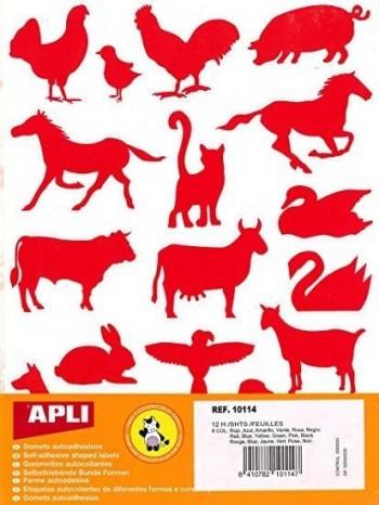 GOMETS ANIMALES GRANJA 12 H APLI