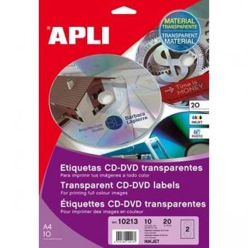 ETIQUETA CD-DVD TRANSP. INK JET 20U