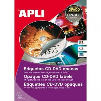 ETIQUETA CD-DVD OPACA INKJET 300 UD