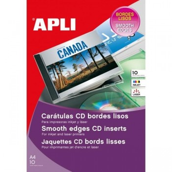 CARATULA CD BORDES LISOS 10 H. APLI