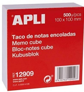 TACO NOTAS BLANCOS 10X10 500 H. APLI
