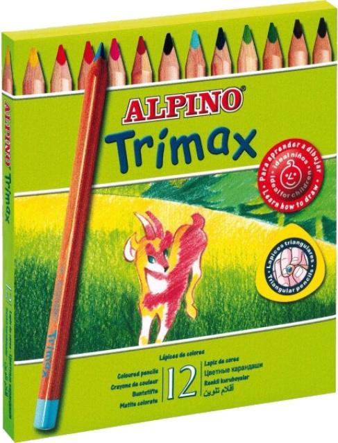 LAPICES DE COLORES ALPINO TRIMAX DE 12 COLORES