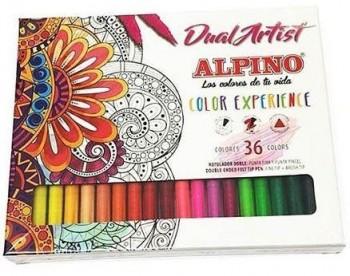 ROTULADOR 36 COLORES DUAL ARTIST EXPERIENCE ALPINO