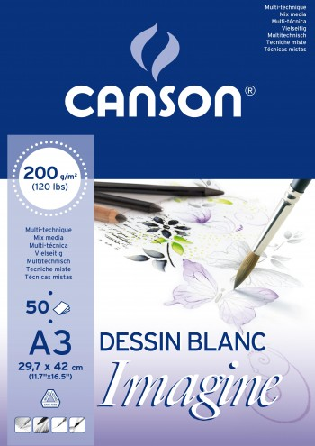 BLOCK MIX-MEDIA 200GR IMAGINE CANSON