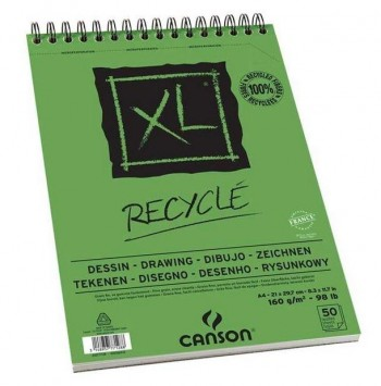 BLOCK CANSON XL PAPEL RECICLADO DRAW 50H 160GR