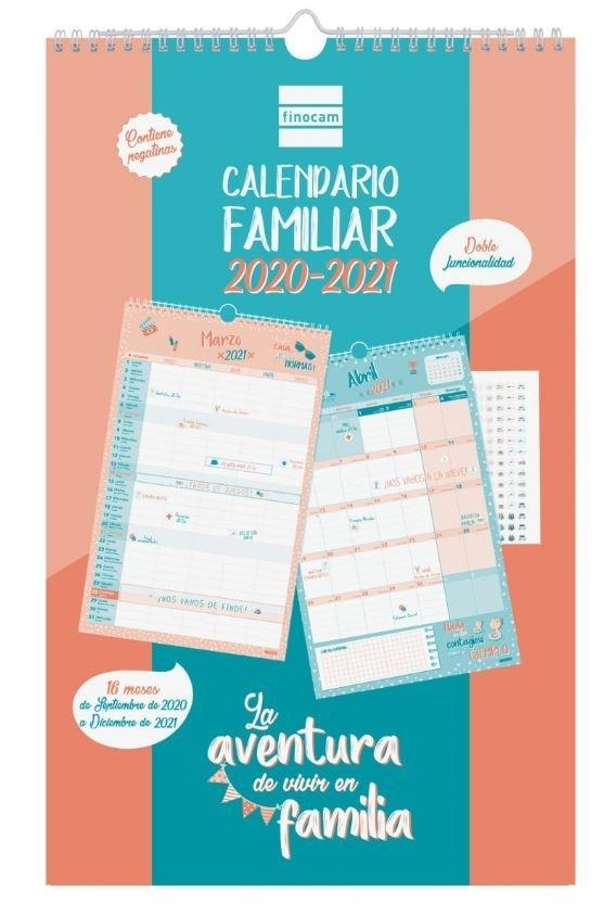 CALENDARIO 16 MESES FAMILIAR AVENTURA BASIC