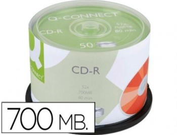 CD-R 700 MB 80 MIN. TARRINA 50 UDS Q-CONNECT