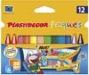 CERAS PLASTIDECOR PEQUES 12 COLORES TRIANGULARES