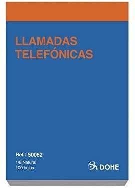 TALONARIO LLAMADAS 8º 100 H. DOHE