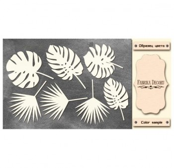 CHIPBOARDS SET TROPICAL LEAVES 554