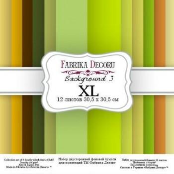 PAPEL DOBLE CARA SCRAPBOOKING SET BACKGROUNDS 3 XL- 12X 12 - FABRIKA DEGORU