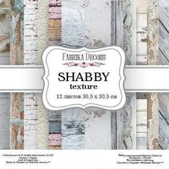 PAPEL DOBLE CARA SCRAPBOOKING SET SHABBY TEXTURE- 12X 12 - FABRIKA DEGORU