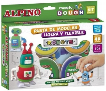 PASTA MODELAR MAGIC DOUGHT ROBOTS 4X40 GR