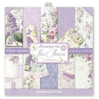 BLOCK 10 SHEETS 30.5X30.5 (12X12) DOUBLE FACE LILAC