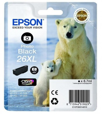 CARTUCHO EPSON XP 600 26XL NEGRO