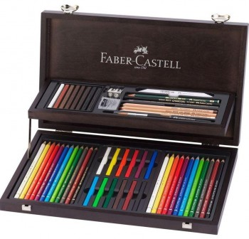 ESTUCHE MADERA ART & GRAPHIC FABER-CASTELL
