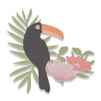 TROQUEL THINLITS TROPICAL BIRD BY SOPHIE