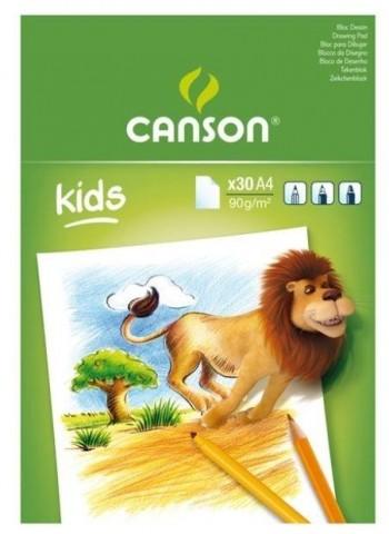 BLOCK DIBUJO KIDS A4 30 H. 90gr CANSON
