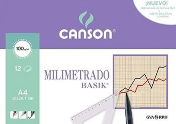 PAPEL MILIMETRADO A4 PACK 12H CANSON