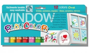 TEMPERA SOLIDA PLAYCOLOR ONE WINDOW 12 UDS.