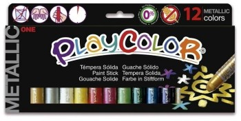 TEMPERA  SOLIDA PLAYCOLOR ONE METALLIC 10GX12 UDS