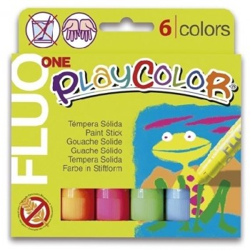 TEMPERA SOLIDA PLAYCOLOR FLUOR ONE 6