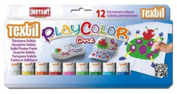 TEMPERA SOLIDA PLAYCOLOR ONE TEXTIL 12 UDS
