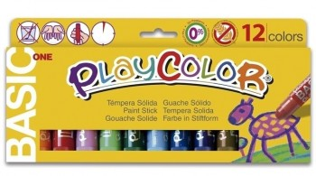 TEMPERA SOLIDA PLAYCOLOR 10GR 12 UNIDADES