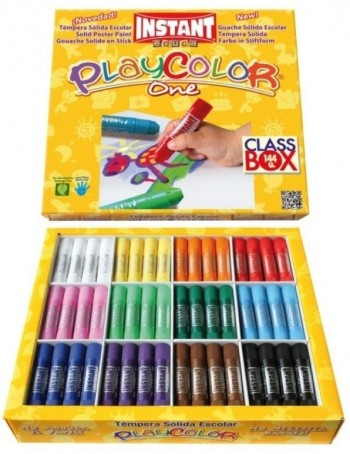 TEMPERA SOLIDA PLAYCOLOR ONE 10GR 144 UNIDADES