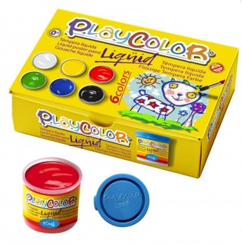 TEMPERA BASIC PLAYCOLOR SET 6COLORES