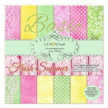 BLOCK LAMINAS 12X12 LEMONCRAFT FRESH SUMMER