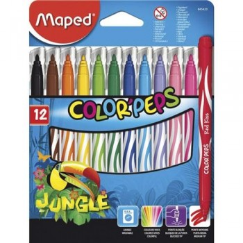 ROTULADORES COLOR PEPS JUNGLE X12