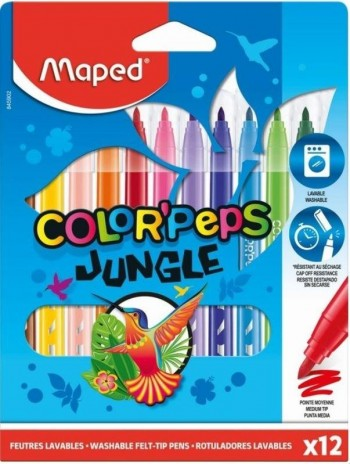 ROTULADORES COLOR PEPS JUNGLE 2.0 12 COL.