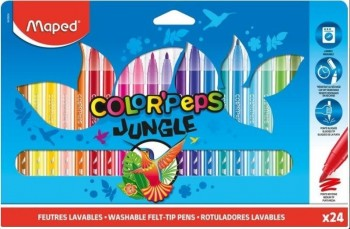 ROTULADORES COLOR PEPS JUNGLE 2.0 24 COL.