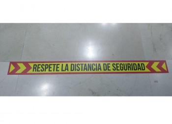 TIRA SEÑALIZACION ADHESIVA 8X100 CMS