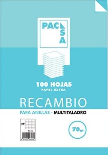 RECAMBIO PACSA A4 4 TALADROS 100H