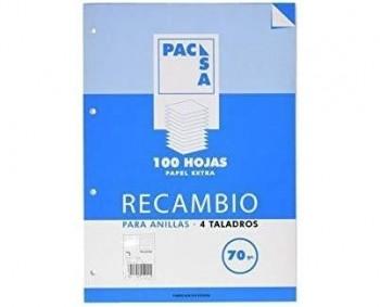 RECAMBIO PACSA A4 100H. LISO 90GRAMOS