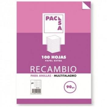 RECAMBIO PACSA FOLIO CUADRO 4X4 MULTITALADRO 90GRAMOS